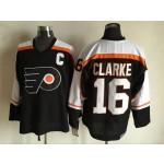 Men's Philadelphia Flyers #16 Bobby Clarke 1997-98 Black CCM Throwback Jersey