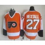 Men's Philadelphia Flyers #27 Ron Hextall Orange Throwback CCM Jersey