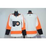 Youth Philadelphia Flyers Blank White Adidas Jersey