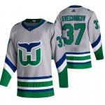Carolina Hurricanes #37 Andrei Svechnikov Grey Men's Adidas 2020-21 Reverse Retro Alternate NHL Jersey