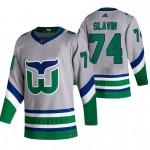 Carolina Hurricanes #74 Jaccob Slavin Grey Men's Adidas 2020-21 Reverse Retro Alternate NHL Jersey