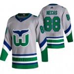 Carolina Hurricanes #88 Martin Necas Grey Men's Adidas 2020-21 Reverse Retro Alternate NHL Jersey