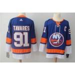 NHL New York Islanders #91 John Tavares Blue Adidas Jersey