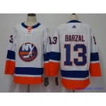NHL New York Islanders #13 Mathew Barzal White Adidas Jersey