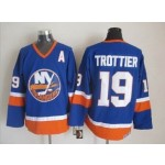 Men's New York Islanders #19 Bryan Trottier Royal Blue Throwback CCM Jersey