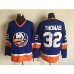 Men's New York Islanders #32 Steve Thomas Royal Blue Throwback CCM Jersey