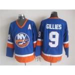 Men's New York Islanders #9 Clark Gillies Royal Blue Throwback CCM Jersey