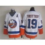 Men's New York Islanders #19 Bryan Trottier White Throwback CCM Jersey