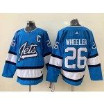 NHL Winnipeg Jets #26 Blake Wheeler Sky Blue Alternate Adidas Jersey