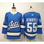 NHL Winnipeg Jets #55 Mark Scheifele Sky Blue Alternate Adidas Jersey