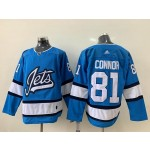 NHL Winnipeg Jets #81 Kyle Connor Sky Blue Alternate Adidas Jersey