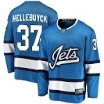 NHL Winnipeg Jets #37 Connor Hellebuyck Sky Blue Alternate Adidas Jersey