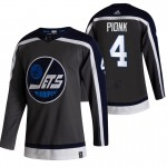 Winnipeg Jets #4 Neal Pionk Black Men's Adidas 2020-21 Reverse Retro Alternate NHL Jersey