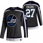 Winnipeg Jets #27 Nikolaj Ehlers Black Men's Adidas 2020-21 Reverse Retro Alternate NHL Jersey