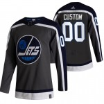 Winnipeg Jets Custom Black Men's Adidas 2020-21 Reverse Retro Alternate NHL Jersey (Name and number remark in comment column)