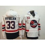 NHL Winnipeg Jets #33 Dustin Byfuglien White All Stitched Hooded Sweatshirt