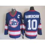 Men's Winnipeg Jets #10 Dale Hawerchuk Blue CCM Throwback Jersey