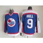 Men's Winnipeg Jets #9 Bobby Hull 1979-80 Blue CCM Throwback Jersey