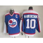 Men's Winnipeg Jets #10 Dale Hawerchuk 1979-80 Blue CCM Throwback Jersey