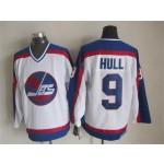 Men's Winnipeg Jets #9 Bobby Hull 1979-80 White CCM Throwback Jersey