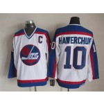 Men's Winnipeg Jets #10 Dale Hawerchuk 1979-80 White CCM Throwback Jersey