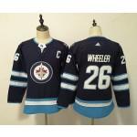 Youth Winnipeg Jets #26 Blake Wheeler Navy blue Adidas Jersey