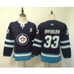 Youth Winnipeg Jets #33 Dustin Byfuglien Navy blue Adidas Jersey
