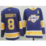 Los Angeles Kings #8 Drew Doughty Purple Men's Adidas 2020-21 Reverse Retro Alternate NHL Jersey