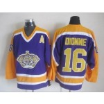 Men's Los Angeles Kings #16 Marcel Dionne Purple With Yellow Throwback CCM Jersey
