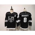 Women Los Angeles Kings #8 Drew Doughty Black Adidas Jersey