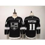 Women Los Angeles Kings #11 Anze Kopitar Black Adidas Jersey