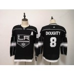 Youth Los Angeles Kings #8 Drew Doughty Black Adidas Jersey