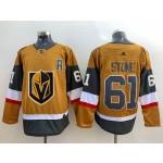 Men's Vegas Golden Knights #61 Mark Stone Gold 2020-21 Alternate Adidas Player Jersey