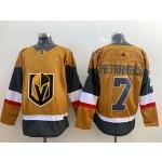 Men's Vegas Golden Knights #7 Alex Pietrangelo Gold 2020-21 Alternate Adidas Player Jersey