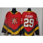 Men's Vegas Golden Knights #29 Marc-Andre Fleury Red 2021 Retro Fourth Jersey