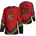 Men's Vegas Golden Knights Custom Red 2021 Retro Fourth Jersey (remark name and number in comment column)