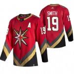 Vegas Golden Knights #19 Reilly Smith Red Men's Adidas 2020-21 Reverse Retro Alternate NHL Jersey