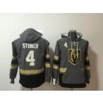 NHL Vegas Golden Knights #4 Clayton Stoner Grey All Stitched Hooded Sweatshirt