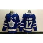 NHL Toronto Maple Leafs #17 Wendel Clark blue adidas jersey
