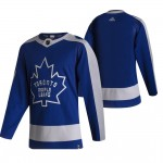 Toronto Maple Leafs Blank Blue and Gray Adidas 2020-21 Reverse Retro Alternate NHL Jersey