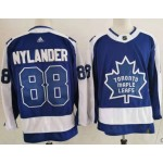 Toronto Maple Leafs #88 William Nylander Blue and Gray Adidas 2020-21 Reverse Retro Alternate NHL Jersey