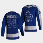 Toronto Maple Leafs Simmonds #24 Blue and Gray Adidas 2020-21 Reverse Retro Alternate NHL Jersey