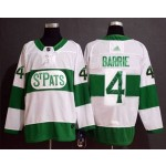 NHL Tonrto Maple Leafs #4 Tyson Barrie White Green St. Pats Adidas Jersey