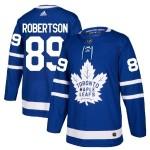 Men's Toronto Maple Leafs #89 Nicholas Robertson Royal Blue Adidas Stitched NHL Jersey