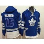 NHL Tonrto Maple Leafs #16 Mitch Marner Blue All Stitched Hooded Sweatshirt