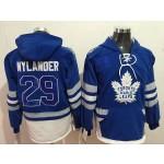 NHL Tonrto Maple Leafs #29 William Nylander Blue All Stitched Hooded Sweatshirt