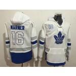 NHL Tonrto Maple Leafs #16 Mitch Marner White All Stitched Hooded Sweatshirt