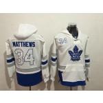 NHL Tonrto Maple Leafs #34 Auston Matthews White All Stitched Hooded Sweatshirt