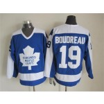 Men's Toronto Maple Leafs #19 Bruce Boudreau Blue With White Throwback CCM Jersey