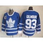 Men's Toronto Maple Leafs #93 Doug Gilmour Blue 75TH Throwback CCM Jersey